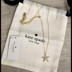 Kate Spade seeing star pave necklace NWT